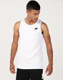 Nike M Nsw Tank Club Embrd Ftra White