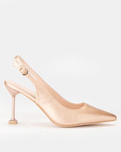 Miss Black Elba Heels Champagne