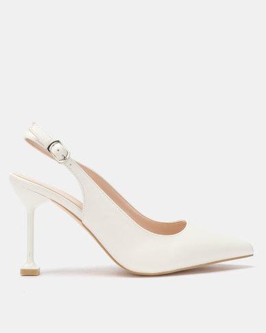 Miss Black Elba Heels White