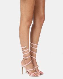 Miss Black Farrah Heels Pink