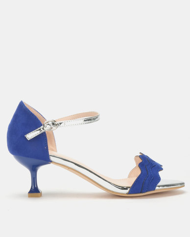 Miss Black Hope Low Heels Blue