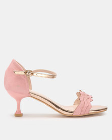 Miss Black Hope Low Heels Pink