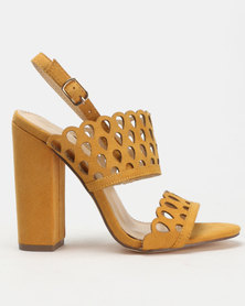Miss Black Kenya Block Heels Mustard