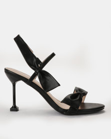 Miss Black Noori Bow Heels Black