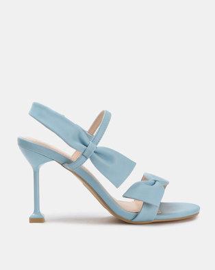20961a5c4b26 Miss Black Noori Bow Heels Blue