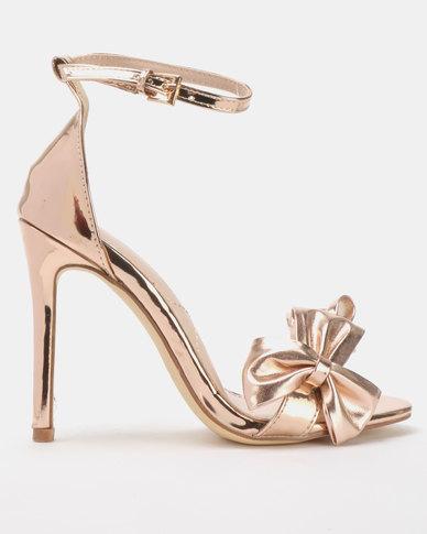 Miss Black Olga Heels Rose Gold