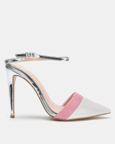 Miss Black Rex Heels White