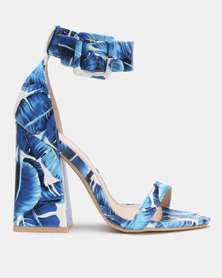 Miss Black Zera Block Heels Blue
