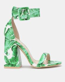 Miss Black Zera Block Heels Green