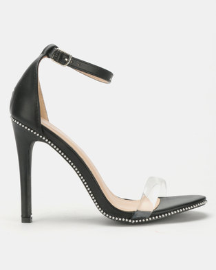 0a27d294abe Miss Black Rowan Barely There Heel Black