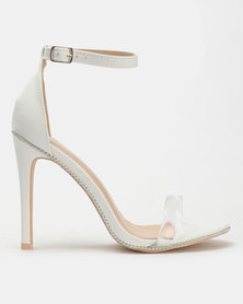 Miss Black Rowan Barely There Heels White