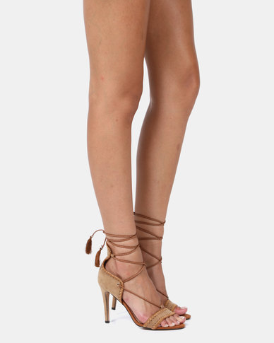 Miss Black Jolene Heels Tan