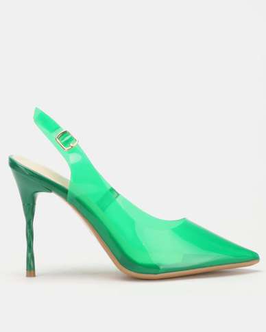 Miss Black Gaines Slingbacks Green