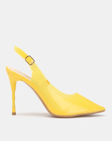 Miss Black Gaines Slingbacks Yellow