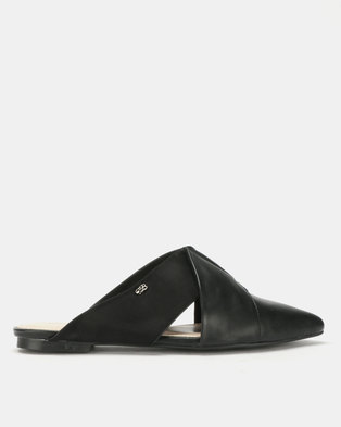Miss Black Bokang Pointy Mules Black