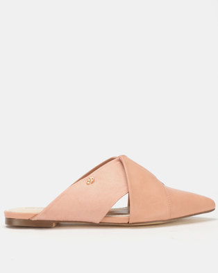 Miss Black Bokang Pointy Mules Pink
