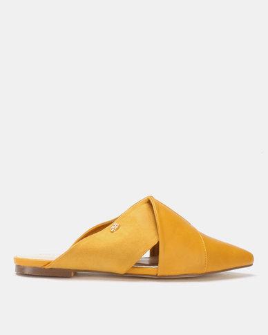 Miss Black Bokang Pointy Mules Yellow