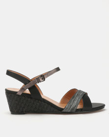 Butterfly Feet Nalayka Wedges Black