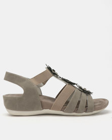 Butterfly Feet Onika Wedges Grey