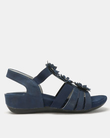 Butterfly Feet Onika Wedges Navy