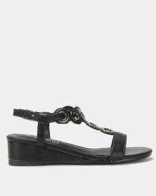 Butterfly Feet Orenda Wedges Black