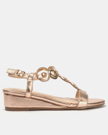 Butterfly Feet Orenda Wedges Rose Gold