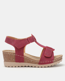 Butterfly Feet Siya Wedges Burgundy