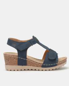 Butterfly Feet Siya Wedges Navy