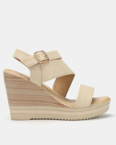Butterfly Feet Dhaka 2 Wedges Nude