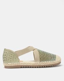 Butterfly Feet Chantel Flats Olive
