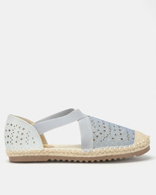 Butterfly Feet Chantel Flats Silver