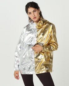 Nike W Nsw Jacket Metallic Silver/Gold