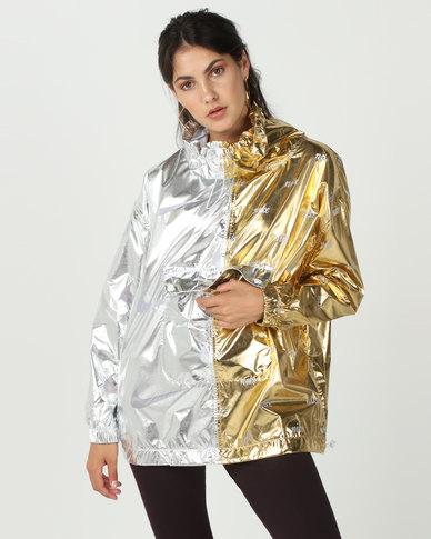 Nike W Nsw Jacket Metallic Silver/Gold