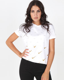 Nike W Nsw Top Ss Metallic White