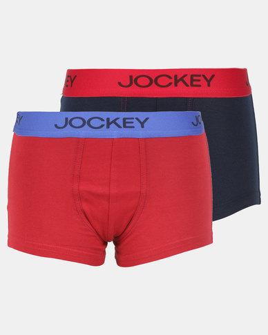 10bbb952fa6 Jockey 2 Pack Boys Pouch Trunks Multi
