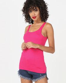 Kaku Designs Plain Vest Pink