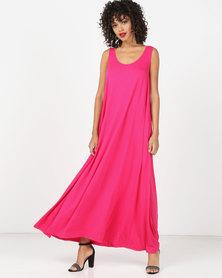 Kaku Designs Sleeveless Maxi Dress Pink