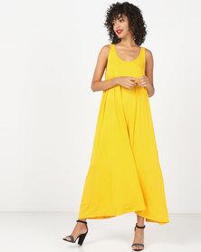 Kaku Designs Sleeveless Maxi Dress Yellow