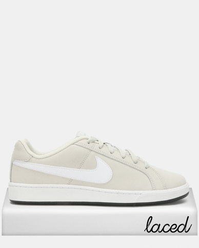 factory price dc0c1 89b87 Nike Court Royale Suede Sneakers Light Bone White Black   Zando