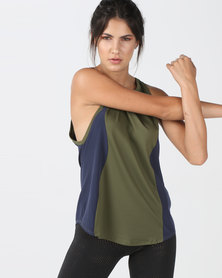 Nike Performance W Nk Tank Cut In Knit Wvn Multi