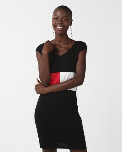 N'Joy Front Colour Black Dress Black