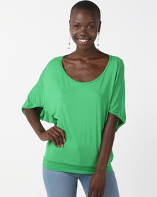 N'Joy Batwing Top Green