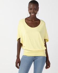 N'Joy Batwing Top Yellow