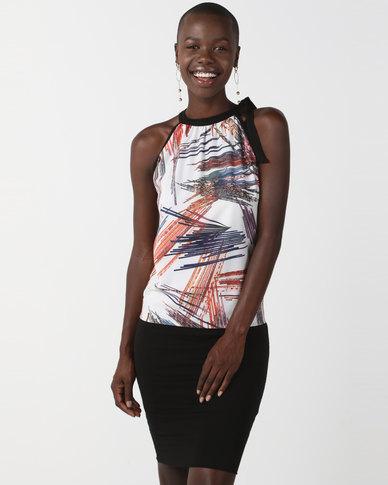 N'Joy Halterneck Printed Dress Multi