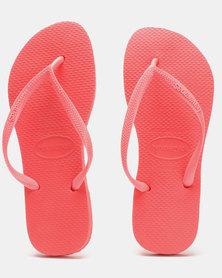 Havaianas Slim Flip Flops Coral