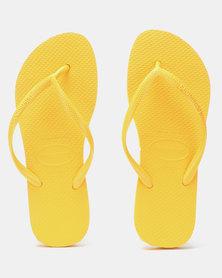 Havaianas Slim Flip Flops Banana Yellow