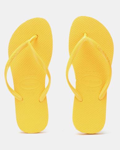 5636707b6477 Havaianas Slim Flip Flops Banana Yellow