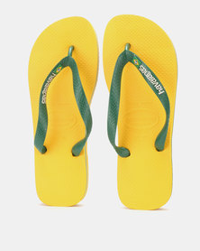 Havaianas Brazil Logo Flip Flops Banana Yellow