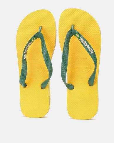 5845778fe4023a Havaianas Brazil Logo Flip Flops Banana Yellow