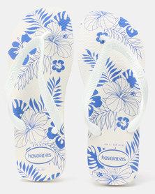Havaianas Aloha Flips Flops White/Blue Star
